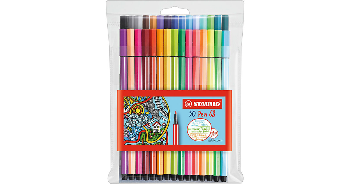 Filzstifte Pen 68 NEON, 24 & 6 Farben