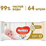 Детские влажные салфетки Huggies Ultra Comfort Natural, 64 шт.