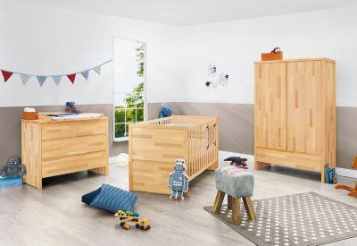 Jugendzimmer NATURA groß, 3-tlg. (Jugendbett, Kommode und 3 ... | {Kinderzimmer buche 64}