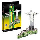 "Пазл 3D ""Статуя Христа-Искупителя (Бразилия)"", CubicFun"