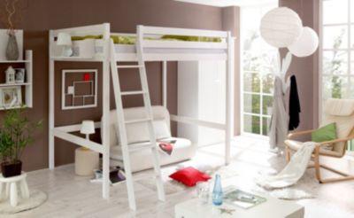 Puppen Etagenbett Mit Rutsche : Hochbett matthias kiefer massiv weiß 140 x 200 cm ticaa mytoys