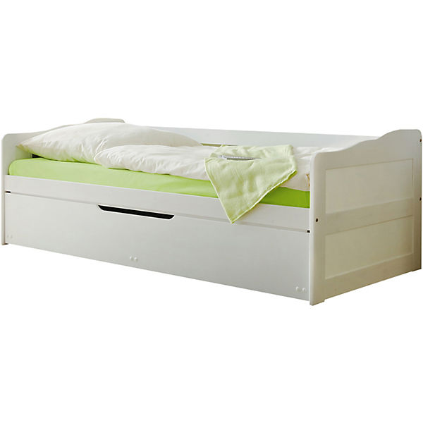 Sofabett Marianne Kiefer Massiv Weiß 90 X 200 Cm Ticaa Mytoys