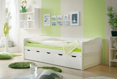 Sofabett kinderzimmer  Sofabett Marianne, Kiefer massiv weiß, 90 x 200 cm, TICAA | myToys