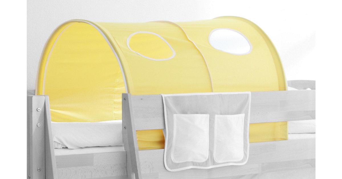 Tunnel Hoch- und Etagenbetten, gelb Kinder