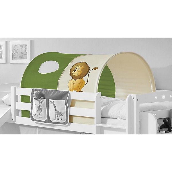 tunnel f r hoch und etagenbetten safari gr n ticaa mytoys. Black Bedroom Furniture Sets. Home Design Ideas