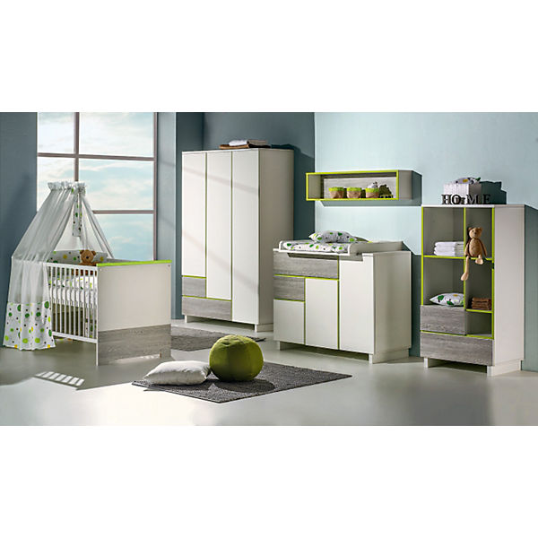 komplett kinderzimmer pepp 3 tlg kinderbett umbauseiten wickelkommode und 3 t riger. Black Bedroom Furniture Sets. Home Design Ideas
