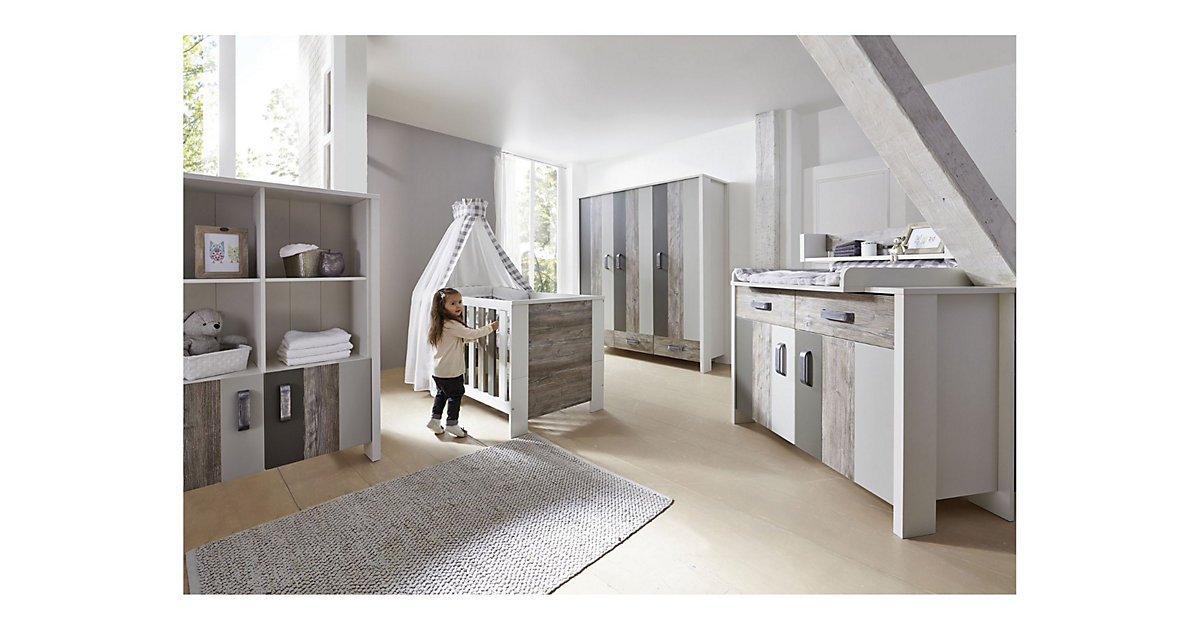 Schardt · Schardt Kinderzimmer Woody Grey 3-türig