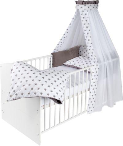 Kinderbett  Kinderbett komplett, weiß, Waldhochzeit, 70 x 140 cm, Roba   myToys