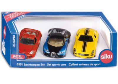 ° Siku 6301 Auto Sportive-SET BUGATTI VEYRON Mercedes SLS LAMBORGHINI 1:55 NUOVO
