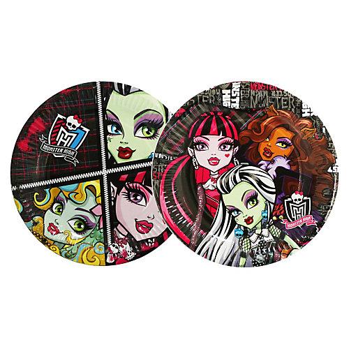 Тарелка бумажная, 18см, 10шт, Monster High от Росмэн