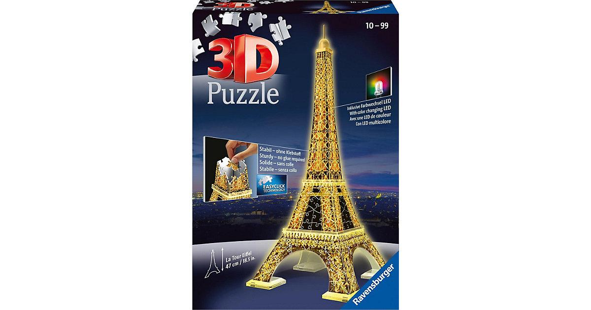 3D Gebäude Puzzle Eiffelturm bei Nacht 216 Teile