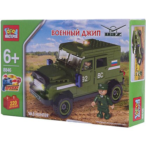 Конструктор УАЗ Hunter военный джип 220 дет. от Город мастеров