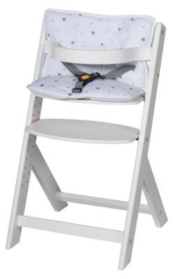 Elegant Hochstuhl Domino III, Buche Weiß, Mit Sitzverkleinerer Sternchen Grau Great Pictures