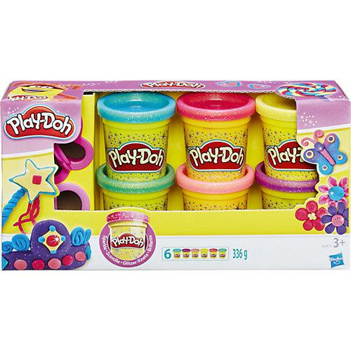 """Набор пластилина из 6 баночек """"Блестящая коллекция"""", Play-Doh от Hasbro"""