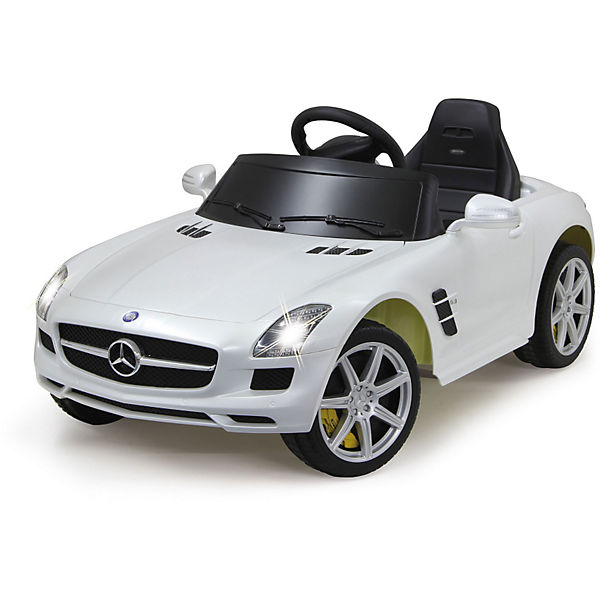 Jamara Elektrofahrzeug Ride on Mercedes Benz SLS AMG weiß 40MHz