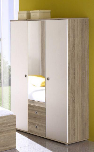Kleiderschrank jugendzimmer weiß  Komplett Jugendzimmer Corner, 4-tlg., (Einzelbett, Kleiderschrank ...