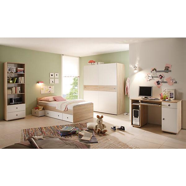 komplett jugendzimmer vicky 4 tlg einzelbett schwebet renschrank schreibtisch standregal. Black Bedroom Furniture Sets. Home Design Ideas