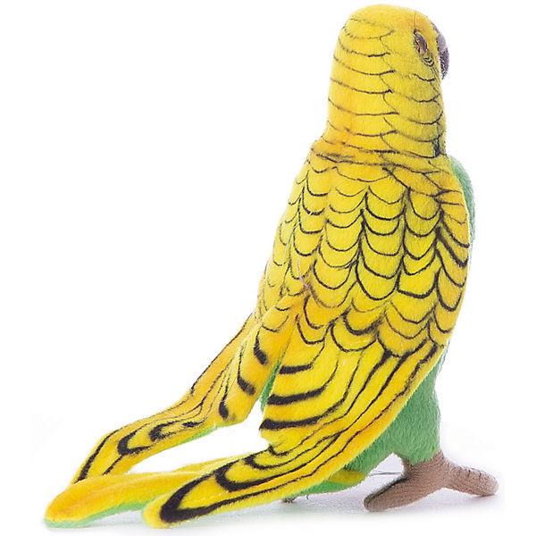 Волнистый попугайчик зеленый, 15 см,  Hansa