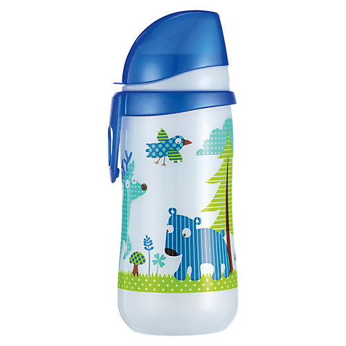 Nip Trinkflasche First Cup, PP, 330 ml, Silikon-Trinktülle, blau Sale Angebote Pinnow-Heideland