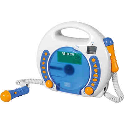 Musik Player Kinder kinder cd-player bobby joey inkl. usb / mp3 und mikrofone, blau, x4
