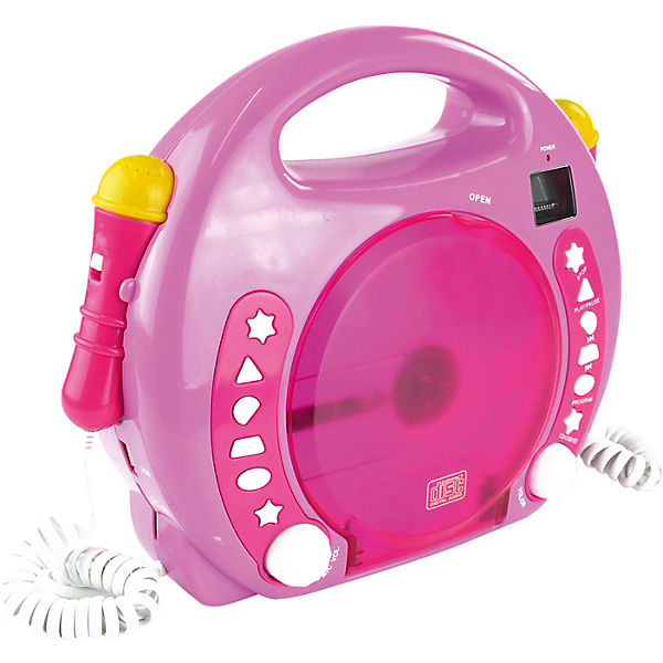 Kinder CD-Player Bobby Joey inkl. USB / MP3 und Mikrofone, Pink