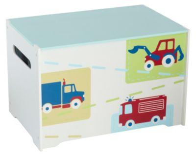 Spielzeug Truhe Auto weiß
