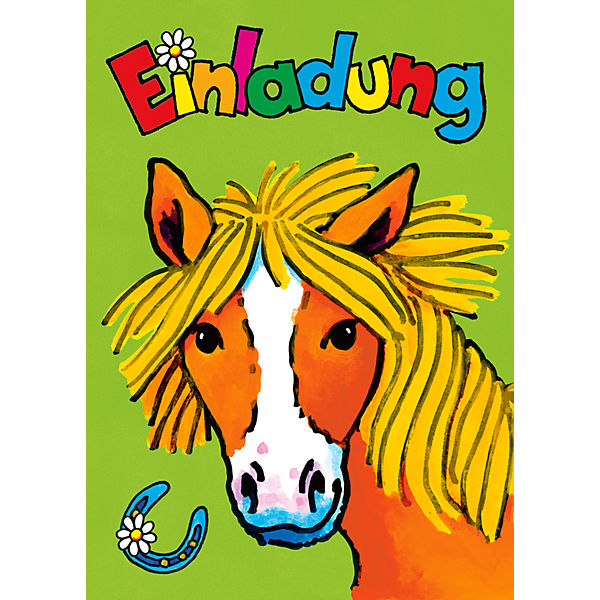 Einladungskarten Pferd Mein Ponyhof, 8 Stück Inkl. Umschläge, Lutz Mauder  Verlag | MyToys