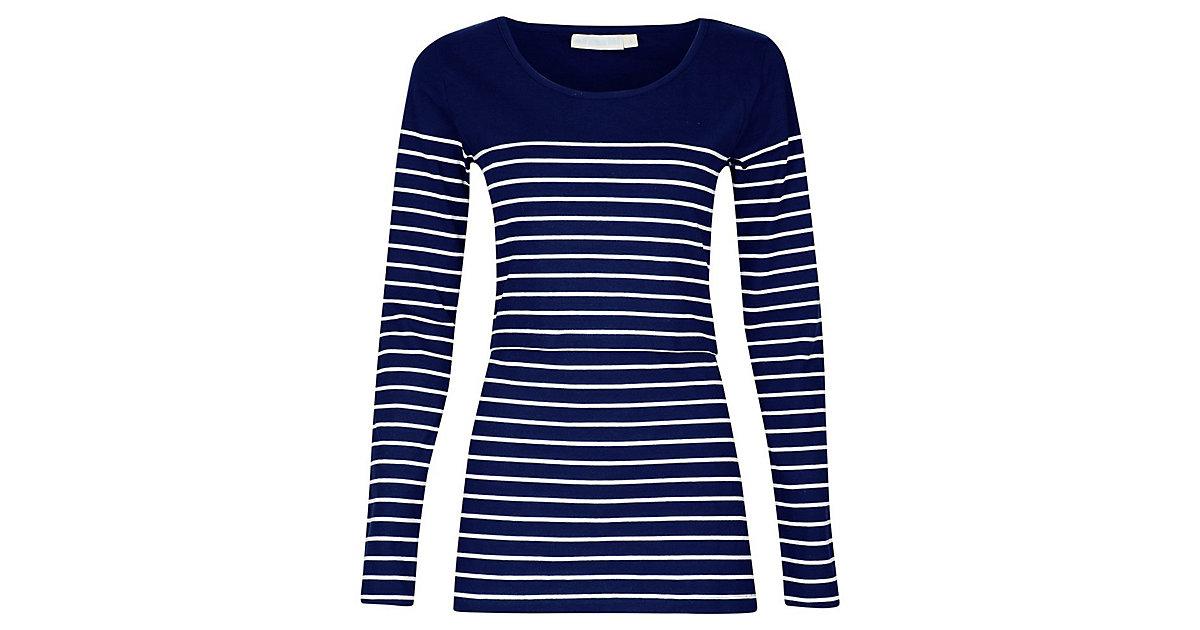 Stilllangarmshirt Breton dunkelblau Gr. 40/42 Damen Kinder