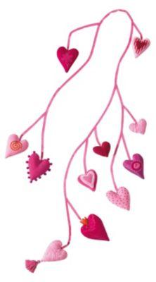 HABA 3042 Stoffgirlande Herz Pia, 155 cm pink
