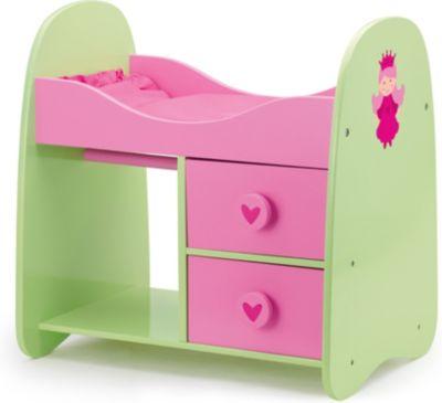 Schrankbett FEE pink/ grün