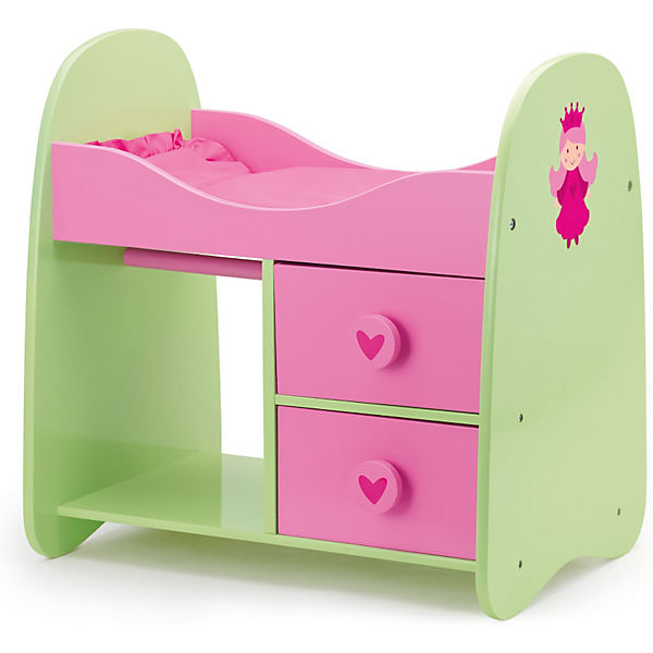 puppenm bel schrankbett pink gr n bayer mytoys. Black Bedroom Furniture Sets. Home Design Ideas