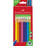 Карандаши цветные Faber-Castell Jumbo, 20 цветов, с точилкой