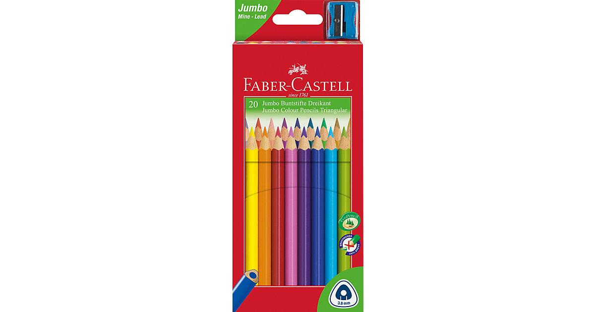 Dreikant-Buntstifte JUMBO TRIANGULAR, 20 Farben, inkl. Anspitzer