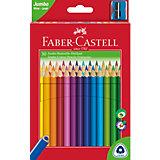 Карандаши цветные Faber-Castell Jumbo, 30 цветов, с точилкой