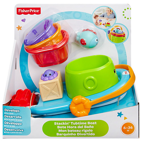 Drieschnitz-Kahsel Angebote Mattel Fisher-Price - Stapel-Badeboot