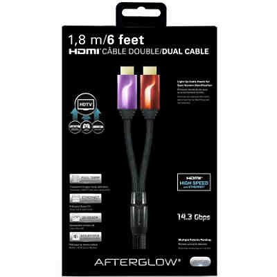 PS3 Afterglow HDMI Kabel 1,8m (2-fach), Lila/Rot