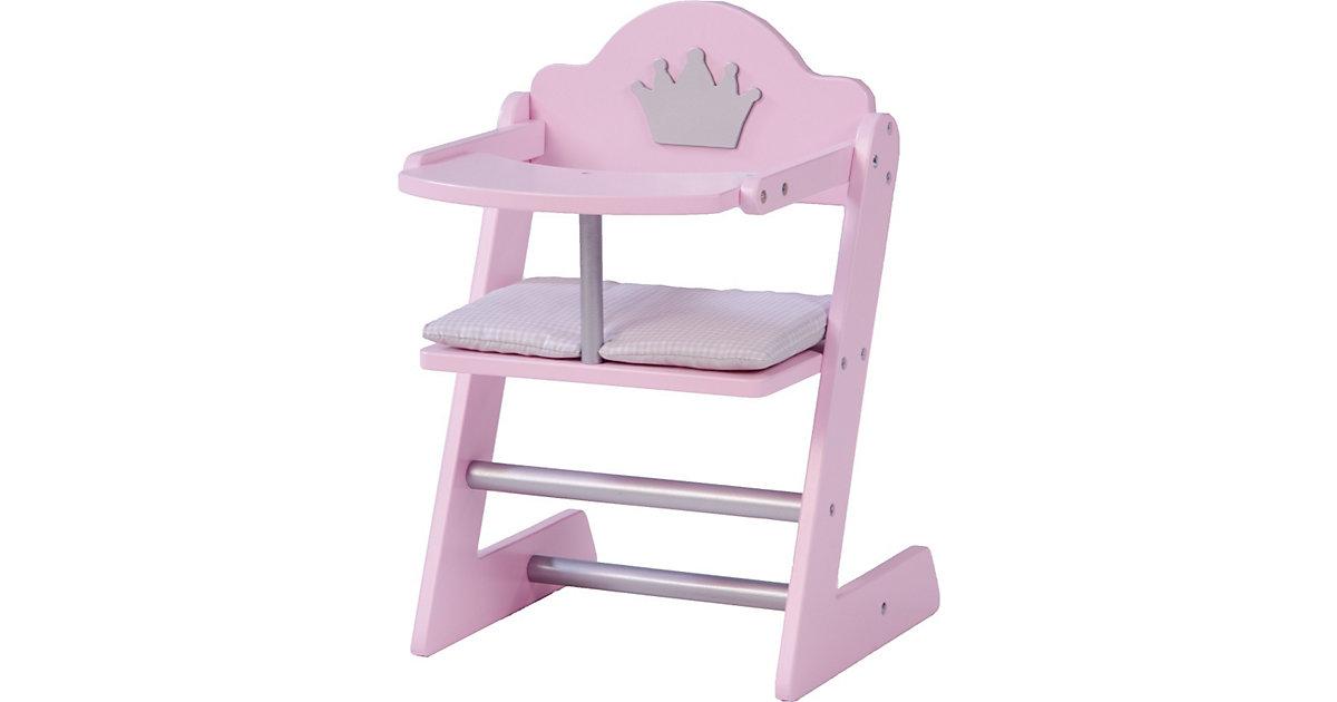 Puppenhochstuhl Prinzessin Sophie, rosa