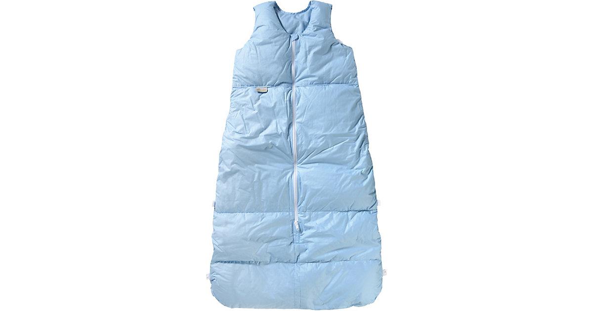 Winter- Schlafsack Daunen, Uni-Basic, bleu uni Gr. 90-110