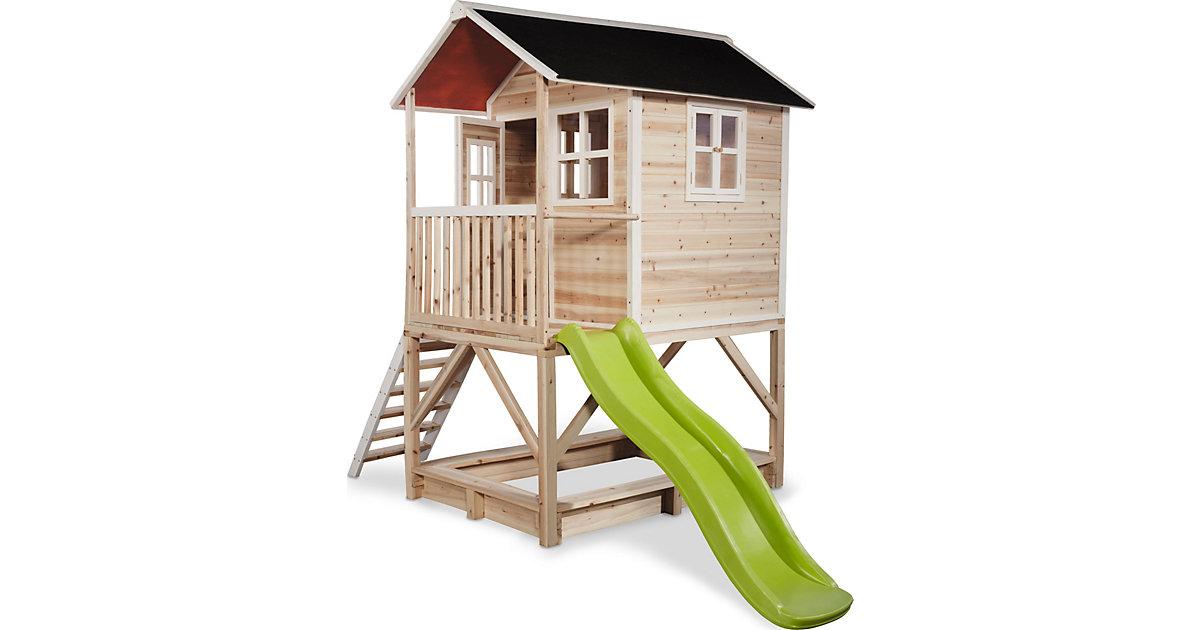"""Spielhaus """"Loft"""" mit Veranda, Sandkasten und Rutsche, ca.328x185x255 cm"""