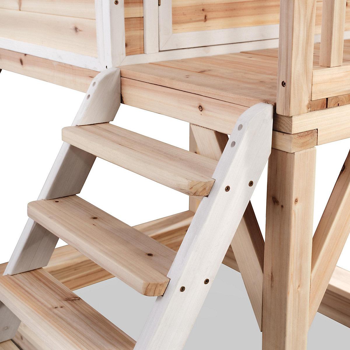 spielhaus loft mit veranda sandkasten und rutsche cm exit mytoys. Black Bedroom Furniture Sets. Home Design Ideas