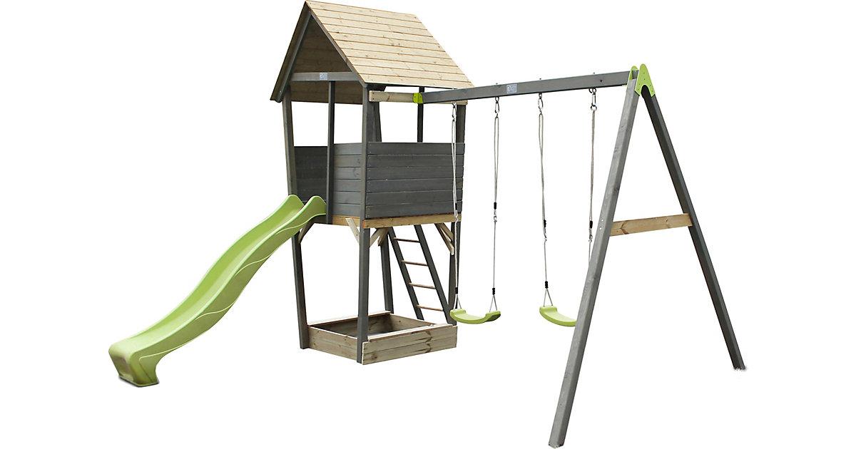 """Spielturm """"Aksent"""" mit Rutsche und Doppelschaukel"""