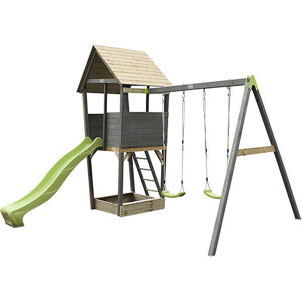 Spielturm Aksent Mit Rutsche Und Doppelschaukel