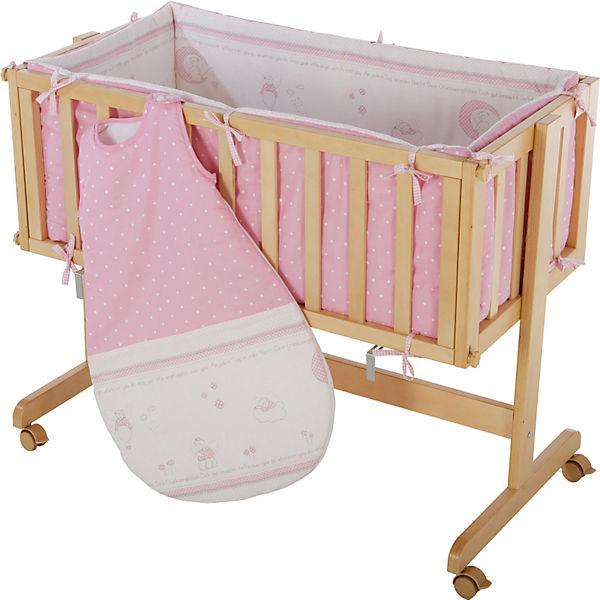 beistell stubenbett mit schlafsack nestchen matratze gl cksengel rosa roba mytoys. Black Bedroom Furniture Sets. Home Design Ideas