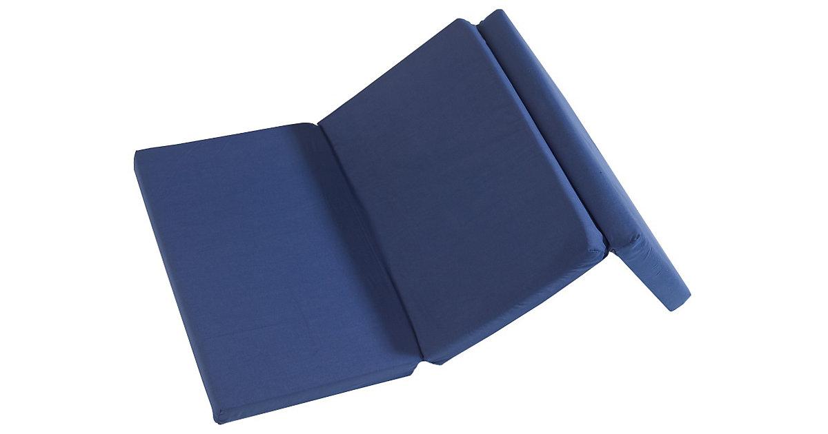 Reisebettmatratze, klappbar, 60 x 120 x 5,5 cm, dunkelblau