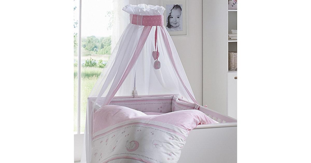 roba · ROBA Kinderbettgarnitur 4-teilig 100x135cm Glücksengel rosa