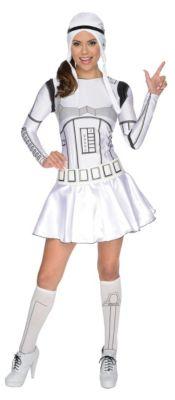 Kostüm Star Wars Storm Trooper Lady weiß (Erw.) Gr. 32 Mädchen Kinder