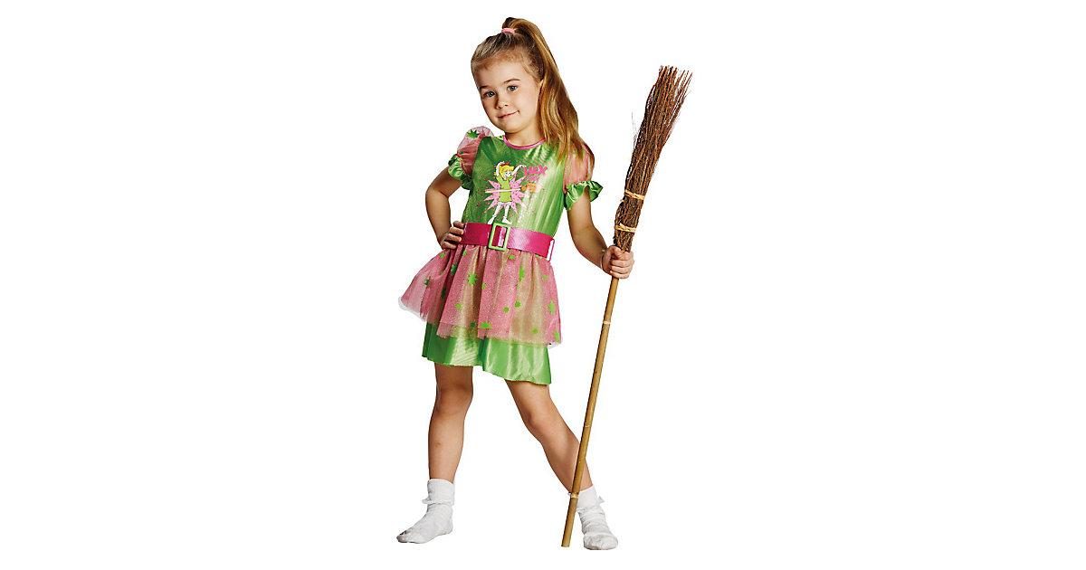 Kostüm Hexe Bibi Blocksberg Kleid grün Gr. 128 Mädchen Kinder