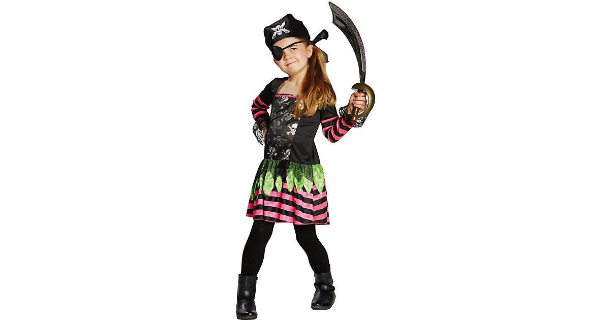 Kostüm Punky Pirate schwarz Gr. 116 Mädchen Kinder