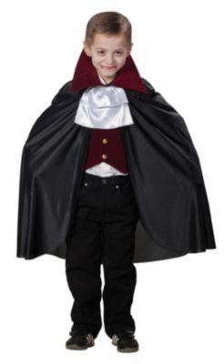 Dracula Cape und Weste mit Jabot Gr. 140 Jungen Kinder