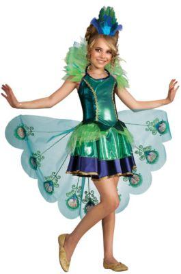 Kostüm Pfauenkostüm Gr. 128/140 Mädchen Kinder